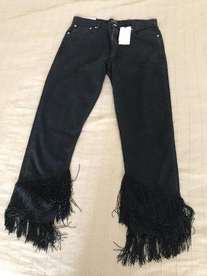 Lässige Fransen-Jeans von Zara Premium Denim