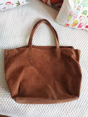 Sac Baril brun-cognac polyester