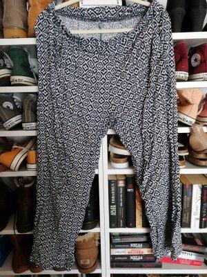 Kik Pantalone bloomers bianco-nero