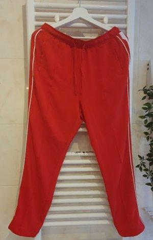 Strandvirus Pantalon taille haute blanc-rouge brique