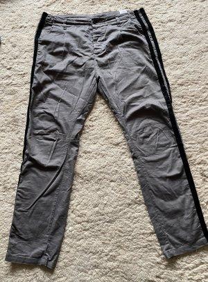 10 Days Pleated Trousers slate-gray-dark blue