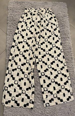 H&M Pantalón estilo Harem negro-crema