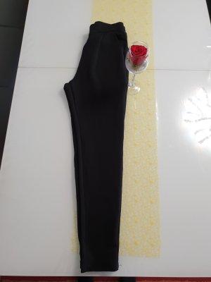 lässige Hose mit hoher Taille schwarz