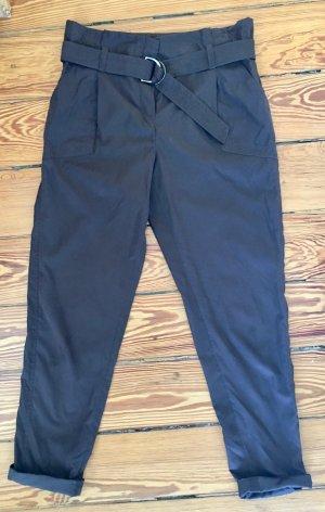 Riani Pantalon à pinces brun foncé coton