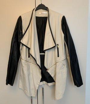 Biker Jacket oatmeal-black