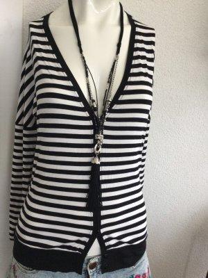 Alba Moda Blouse Jacket white-black