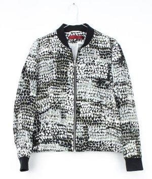 Lässige Jacke von HUGO Hugo Boss mit schwarz-weiß-grünem Muster