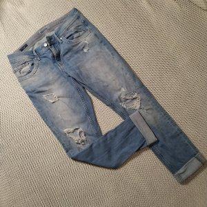 Pepe Jeans Pantalón boyfriend blanco-azul celeste