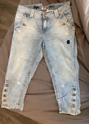 H&M Jeansy 7/8 błękitny
