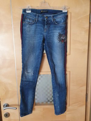Cambio Jeans 7/8 Length Jeans blue-red mixture fibre