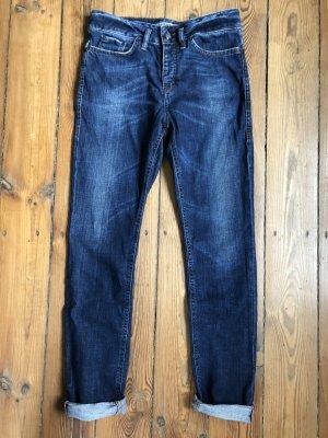 Drykorn Boyfriend jeans donkerblauw Katoen
