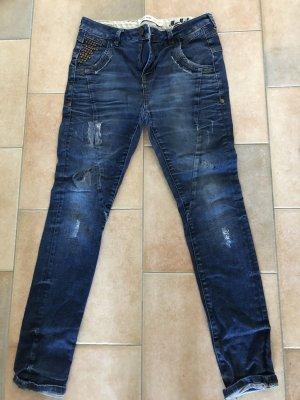 Mos Mosh Jeans baggy bleu foncé