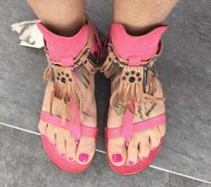 A.S.98 Sandalo toe-post rosa