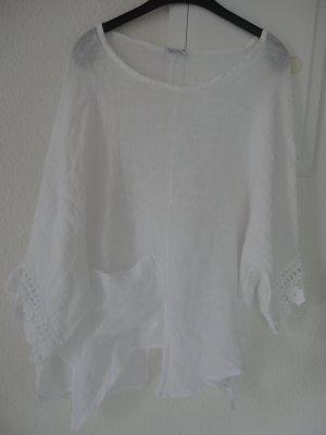 Made in Italy Linen Blouse white linen
