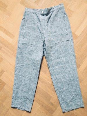 Sunday in bed. Pantalone di lino azzurro Lino