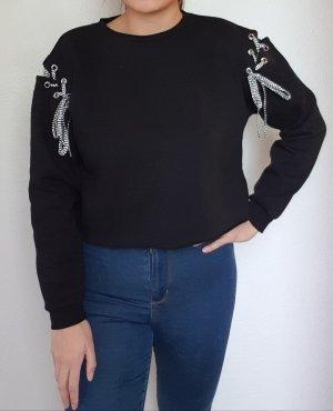Lässige Oversize Crop Sweatshirt