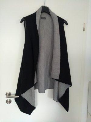 C&A Yessica Lang gebreid vest zwart-grijs