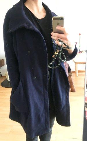 Lässiger ASOS Oversize Mantel ca. Gr.38 nachtblau Wolle Weekday Monk Zara