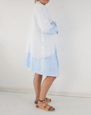 Atmosphere Kimono white-blue