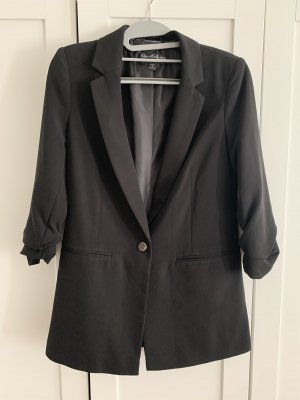 Miss Selfridge Long Blazer black