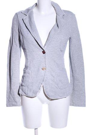 lässiger Blazer aus Sweatshirt-Stoff, hellgrau meliert, Casual-Look, Gr. 38, Sweatblazer