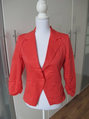 Jersey Blazer bright red cotton