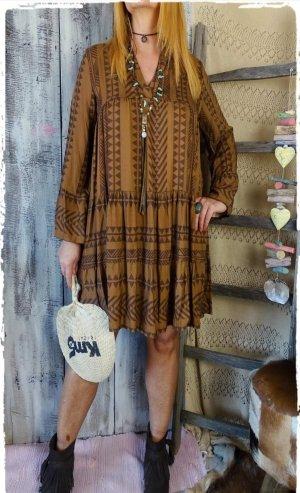 Lässiger Boho Kleid Tunika hippie Ibiza