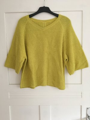 SPOON Oversized Sweater lime yellow cotton