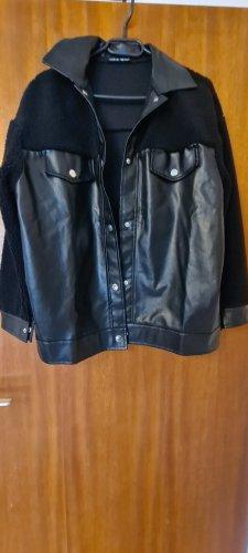 SheIn Oversized Jacket black mixture fibre