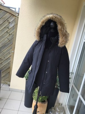 Donna by hallhuber Parka noir-marron clair coton