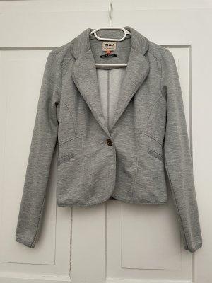 Only Blazer in jersey grigio chiaro-grigio