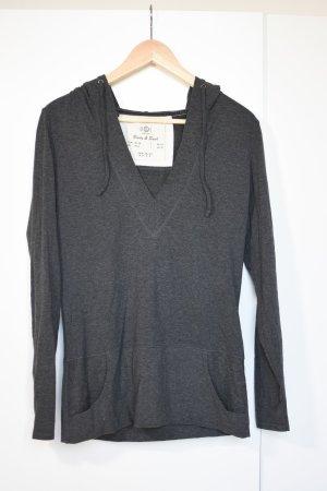 TCM Jersey con cuello de pico gris oscuro