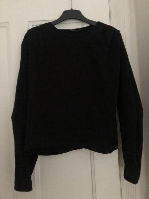 Lässiger Pullover von Zara mit Raffung Schwarz