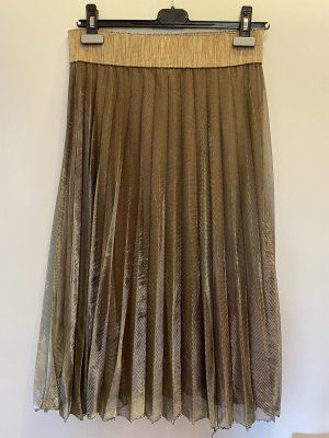 Anna's Plisowana spódnica beżowy-złoto