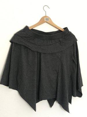 Promod Falda con flecos gris oscuro