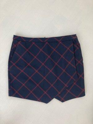 Lässiger Short-Skirt blau rot 40 M L Shorts Rock Karo Muster Minirock Sommer Look