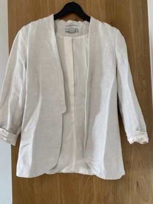 Hennes Collection by H&M Klassischer Blazer blanco puro Lino