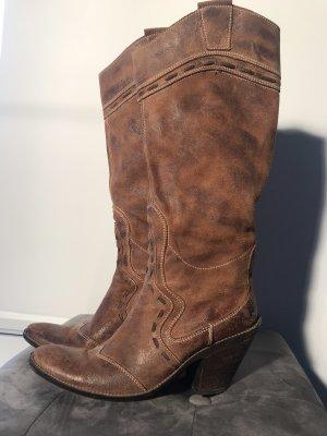 Western Boots cognac-coloured