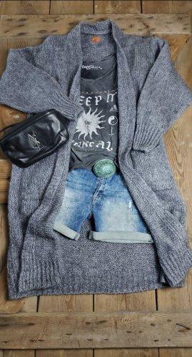 hippie chick ibiza Płaszcz z dzianiny szary