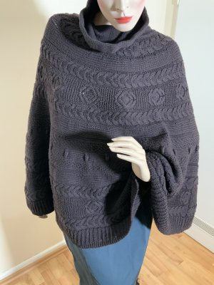 Kapalua Knitted Poncho dark brown