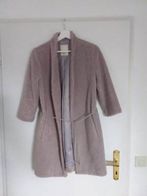 Manteau en fausse fourrure beige acrylique