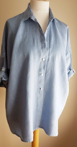 Lässiges 100% Leinen Hemd Bluse, Cosmo- Made in Italy, Gr. M/L 44/46