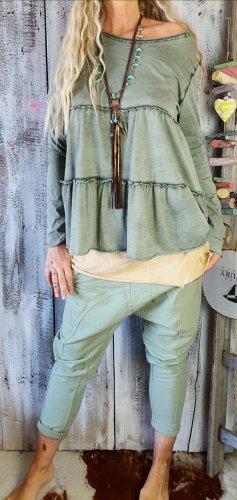 code Ibiza Camisa tipo túnica verde oliva-caqui Algodón