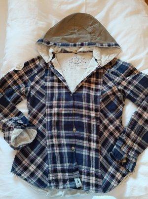 lässiges Flanell-Hemd, Holzfällerhemd, CHILLAZ, Outdoor, Gr. M, mit abnehmbarer Kapuze, wattiert