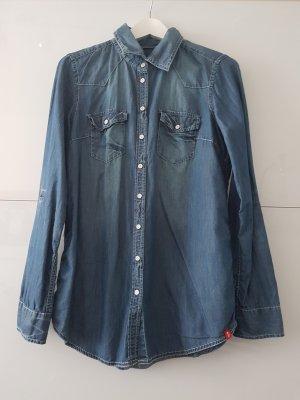 edc by Esprit Chemise en jean bleu