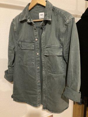 Zara Jeansowa koszula morski-jasnoniebieski
