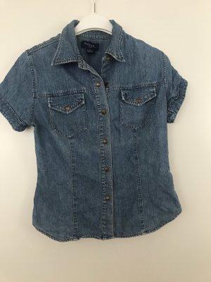 Guess Camicia denim blu acciaio