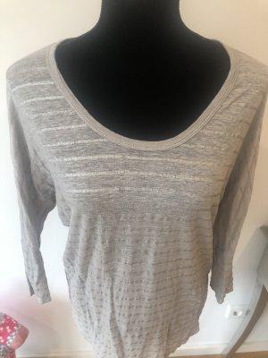 Lässiges Joie Leinen Shirt grau Silber Streifen hoher NP M