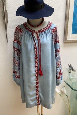 Zara Longsleeve Dress azure-dark red