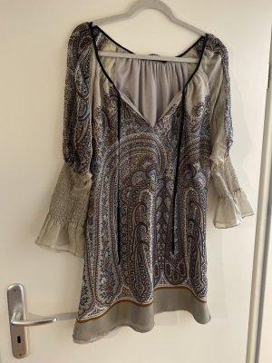 Zara Woman Sukienka tunika Wielokolorowy Jedwab